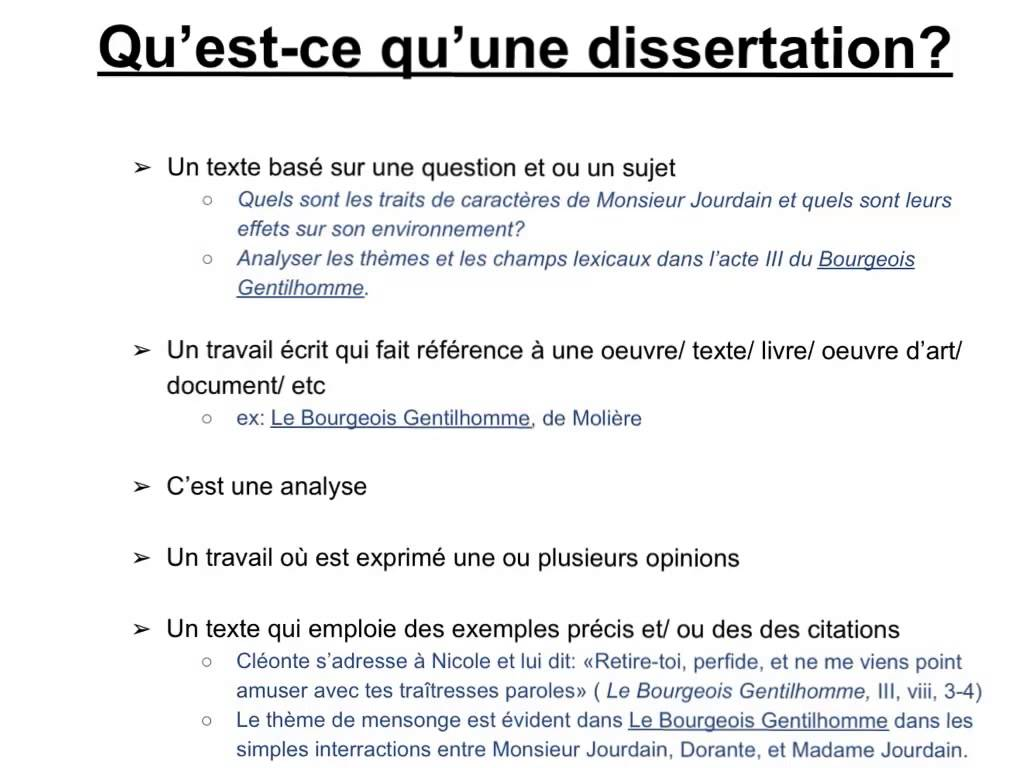 Comment faire un plan de dissertation